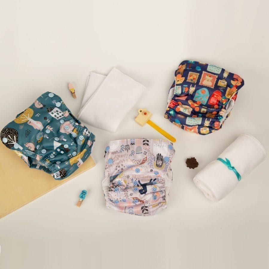 One Size Cloth diaper Starter Kit at 20% Off