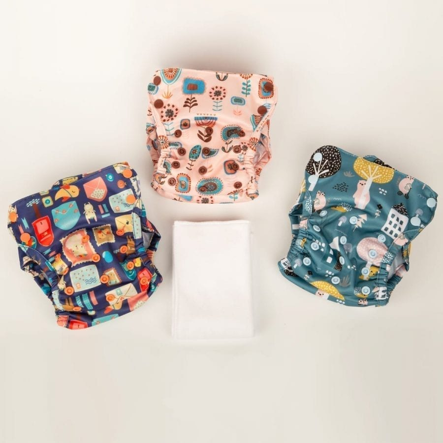 Free Size Cover Diaper - Waterproof & Reusable Cloth Diaper Combo Pack