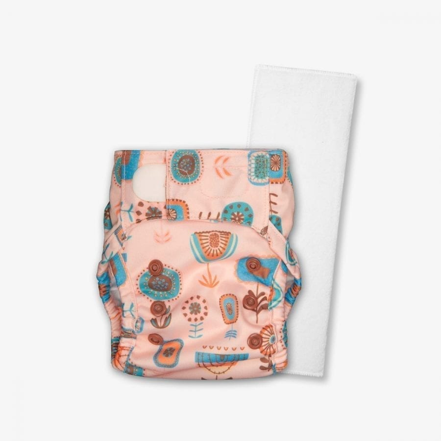 Newborn Size Cover Diaper - Waterproof and Reusable - Bloom