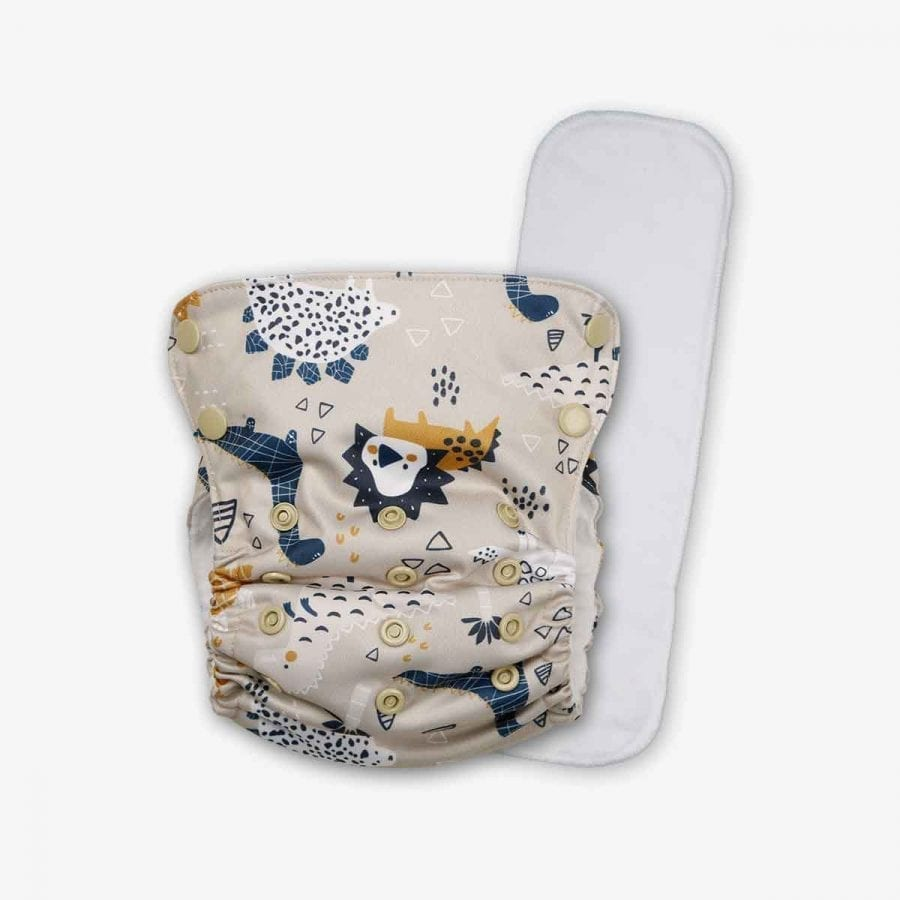 Washable Pocket Diaper with insert - dinoRawr 4K