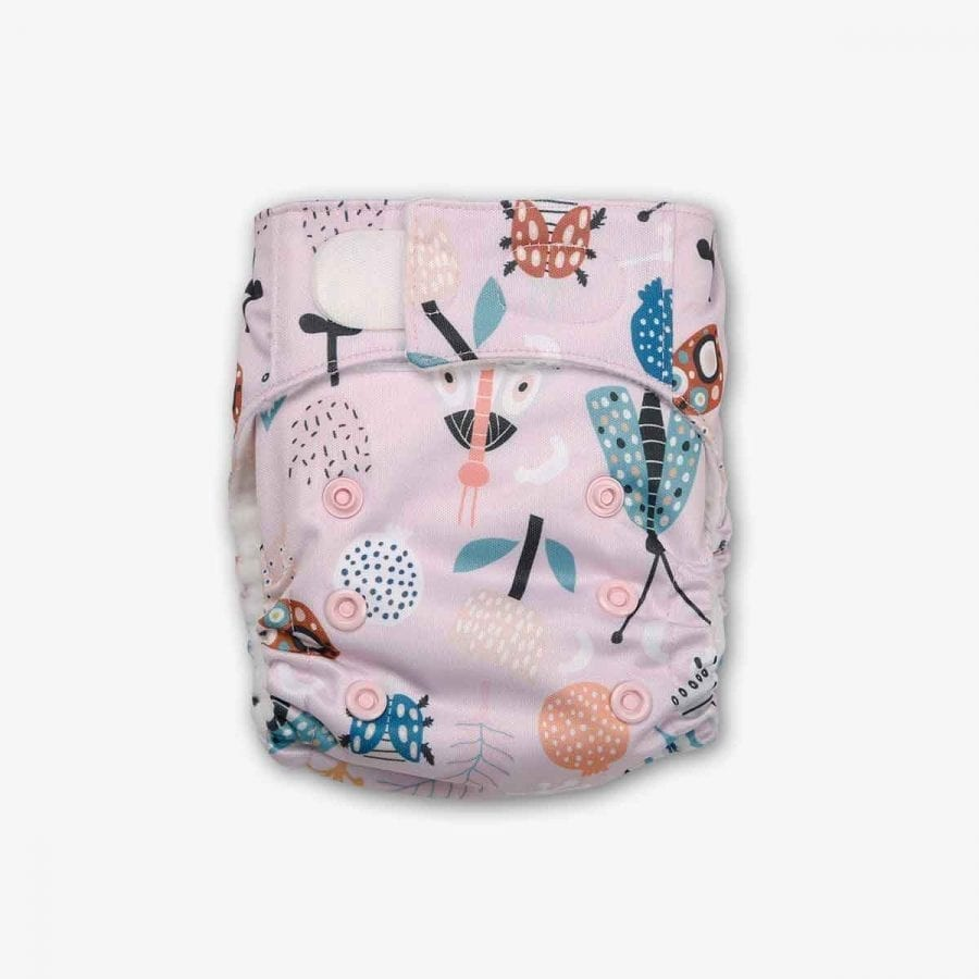 Newborn Washable Diapers - Spring Day