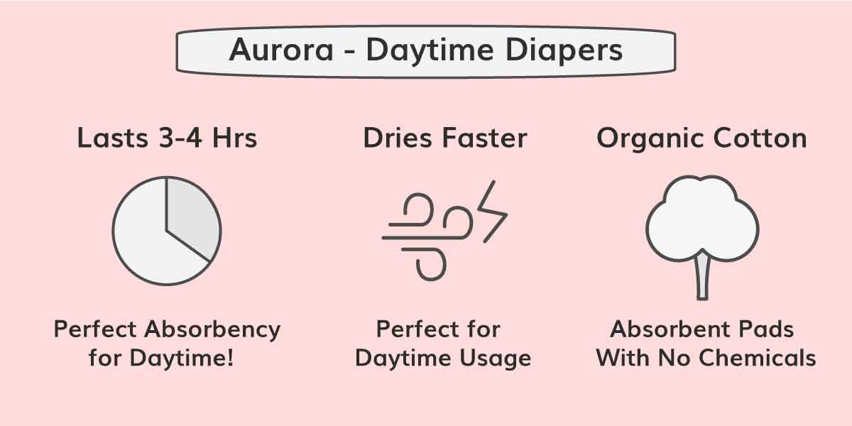 Aurora Diapers - Reusable diapers for daytime