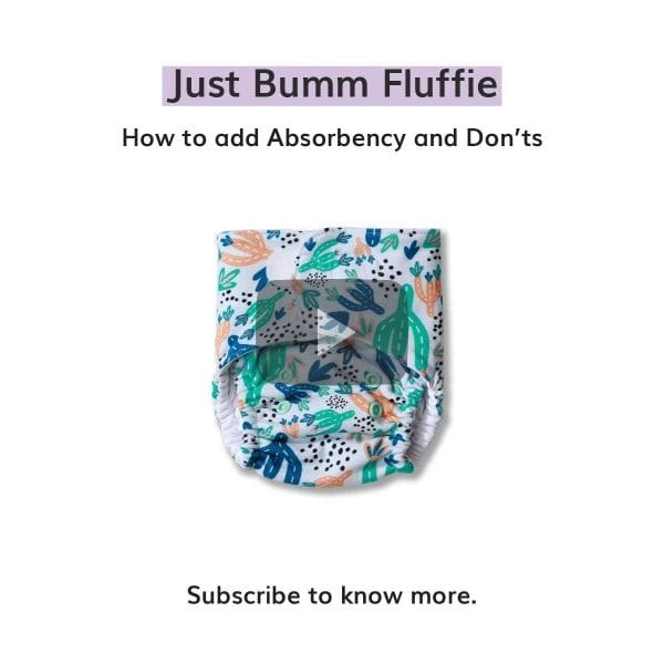 How to add absorbency to Just Bumm Fluffie?